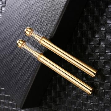 Best glass ceramic cartridge .5ml 1ml metal vape cartridge glass gold tip cartridge Ceramic disposable atomizer fast shipping